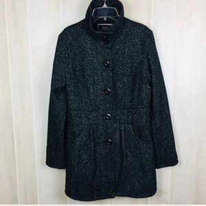Apt. 9 Women's Coat Black/Speckled Gray M